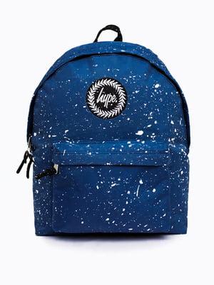 Рюкзак синій в принт | 5314380