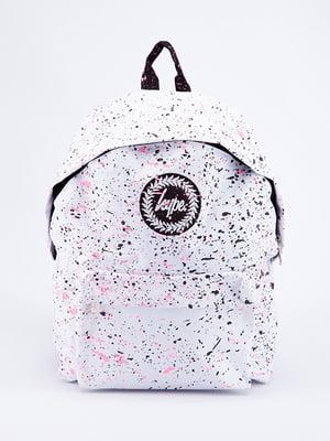 Рюкзак білий в принт | 5314381