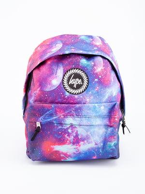 Рюкзак фиолетовый в принт | 5314393
