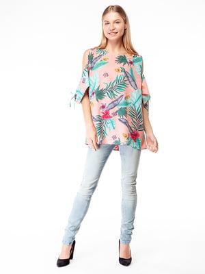 Блуза в квітковий принт | 5314475