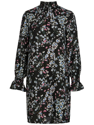 Платье черное в принт | 5314704