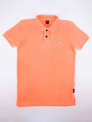 Футболка-поло кораллового цвета | 5314729