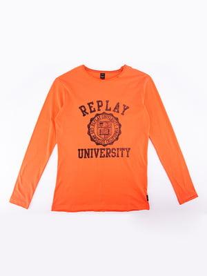 Лонгслив оранжевого цвета - Replay - 5314730