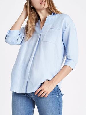 Блуза блакитна | 5314767