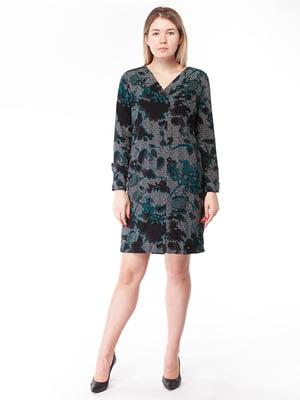 Платье серое в принт   5314791