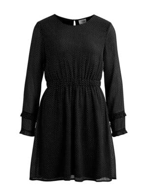 Платье черное в горох | 5314973