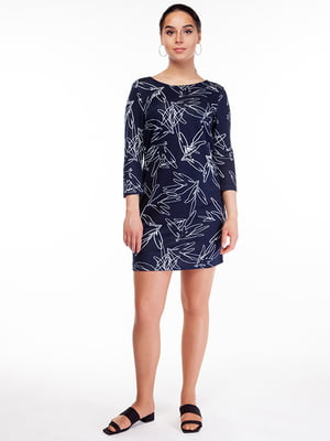 Сукня синя в принт | 5314978