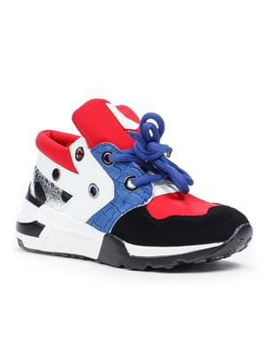 Кроссовки сине-красные | 5315243
