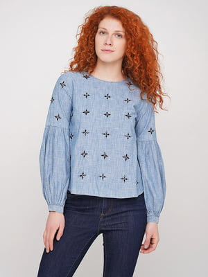 Блуза голубая | 5316244