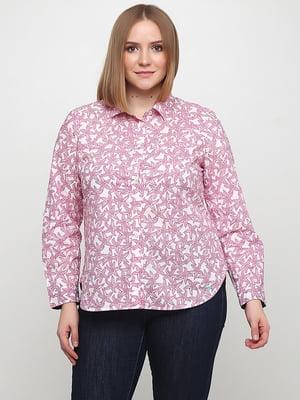 Сорочка рожева в принт | 5316337