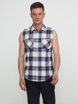 Рубашка серо-синяя | 5316487