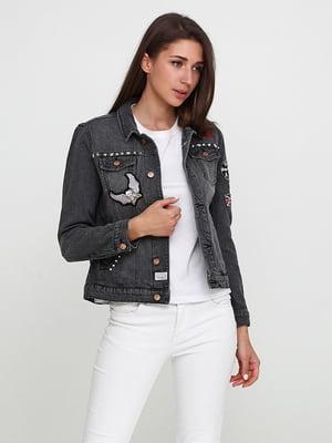 Куртка джинсова темно-сіра | 5316502