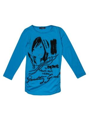 Лонгслив голубой | 5315252