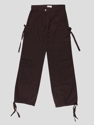 Штани коричневі | 4604399