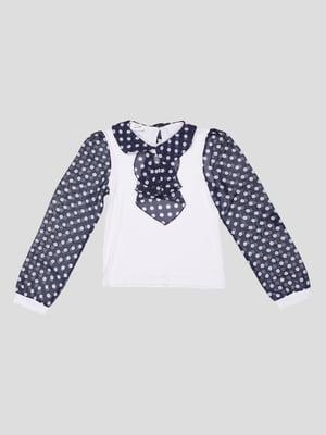 Блуза біла в горох   5242612