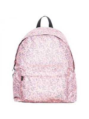 Рюкзак рожевий у принт | 5315681