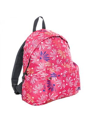 Рюкзак розовый в принт   5315876