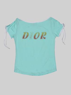 Футболка кольору м'яти - Christian Dior - 5244107