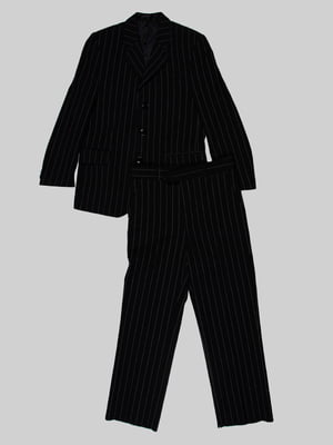 Жакет чорний в смужку | 5244121
