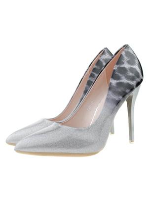 Туфлі чорно-сріблясті   5312831