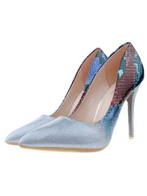 Туфлі коричнево-блакитні   5312846