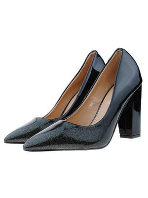 Туфлі чорно-зелені   5315999