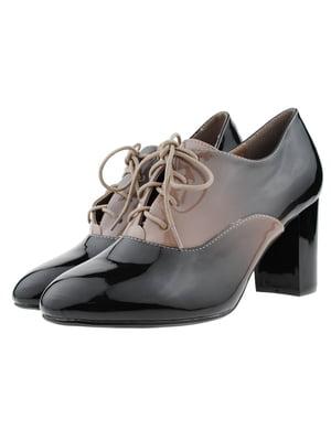 Туфлі кавово-чорного кольору | 5316004