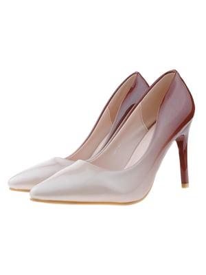 Туфлі бежево-коричневі | 5316019