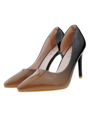 Туфли кофейно-черные | 5316029