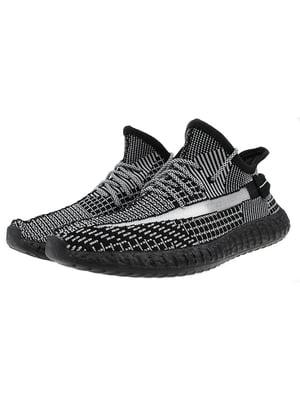 Кроссовки черно-серые   5317636