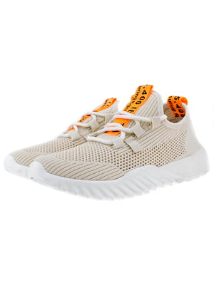 Кросівки біло-помаранчеві   5317643