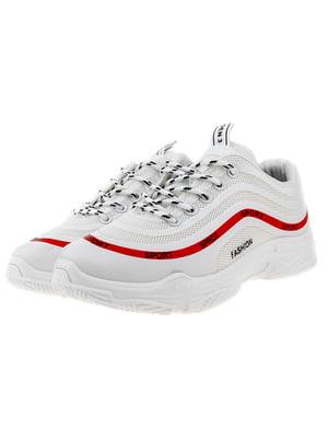 Кроссовки бело-красные   5318558