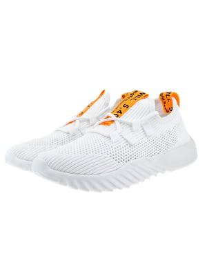 Кросівки біло-помаранчеві   5318563