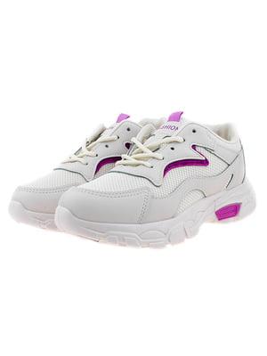 Кроссовки бежево-фиолетовые | 5318568