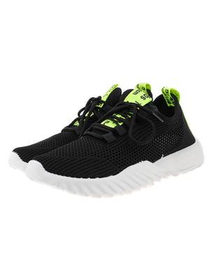 Кроссовки черно-салатовые | 5318573