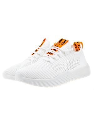 Кроссовки бело-оранжевые | 5318574