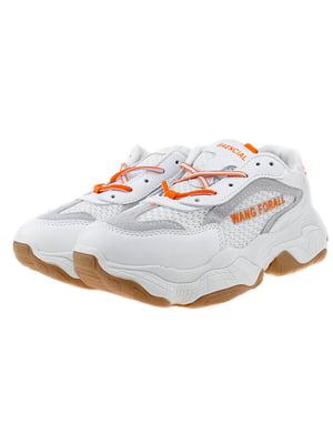 Кроссовки бело-оранжевые | 5318580
