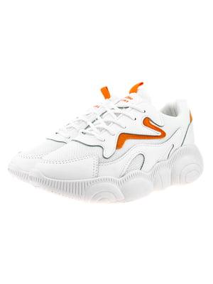 Кроссовки бело-оранжевые | 5318582