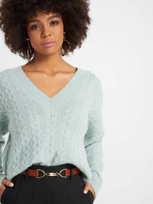 Пуловер блакитний | 5318655
