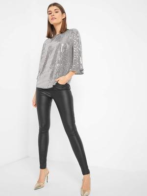 Блуза серебристого цвета   5318662