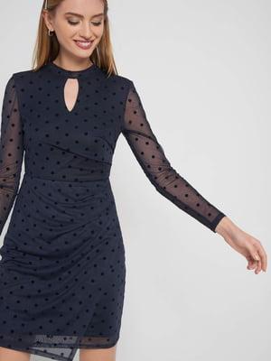 Платье темно-синее в горох | 5318791