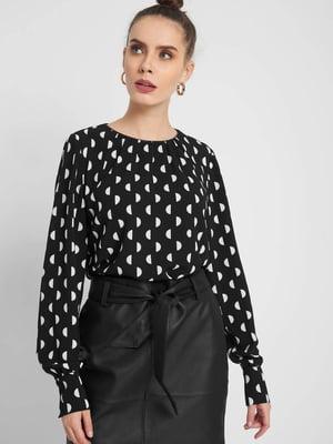 Блуза черная в горох | 5318808