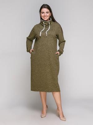 Сукня оливкового кольору | 5308829