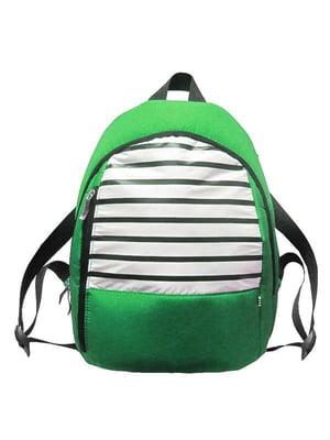 Рюкзак зеленый в полоску | 2897577
