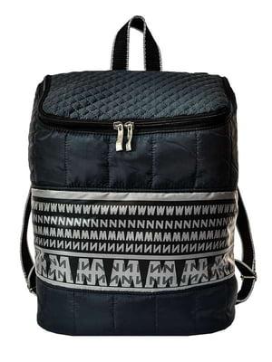 Рюкзак черный в орнамент | 3901859