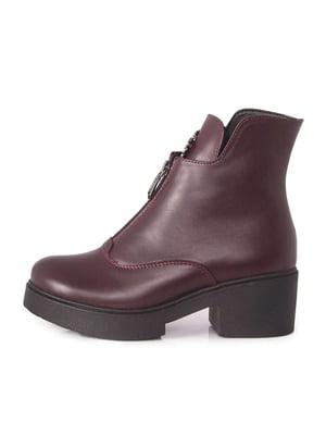 Ботинки бордовые   5319169