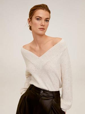 Пуловер молочного кольору | 5319421