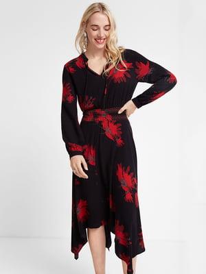 Платье черное с принтом | 5319575