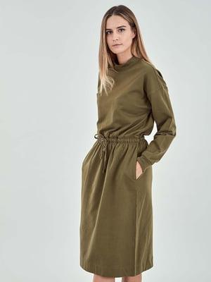 Сукня кольору хакі | 5319679