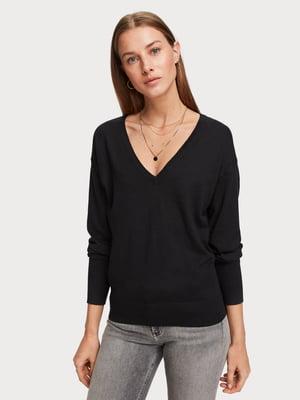 Пуловер чорний | 5319727
